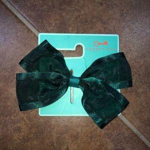 Copper Key Green Hair Bow